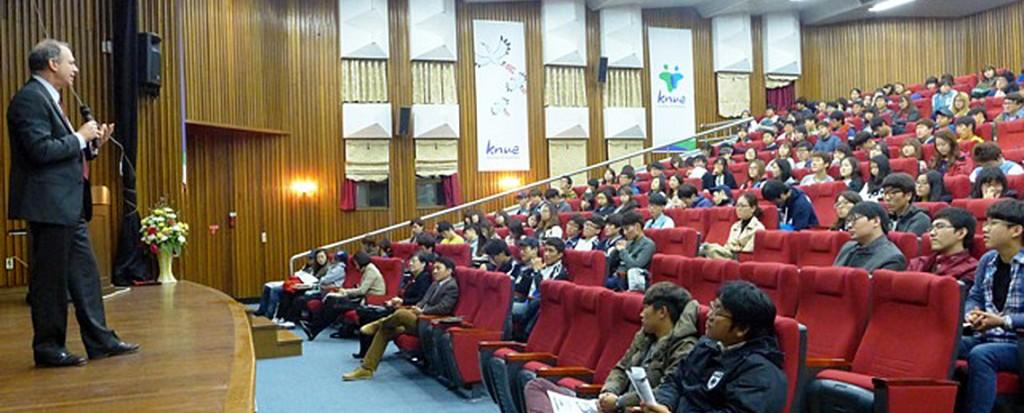 Anti-Bullying Speaker Dr. Joel Haber Speaks in South Korea